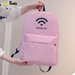 High Quality Printed Canvas students Backpack for Girls