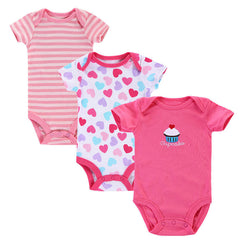 3pcs/lot Baby Romper Short Sleeve Cotton Similar Baby Wear Jumpsuits