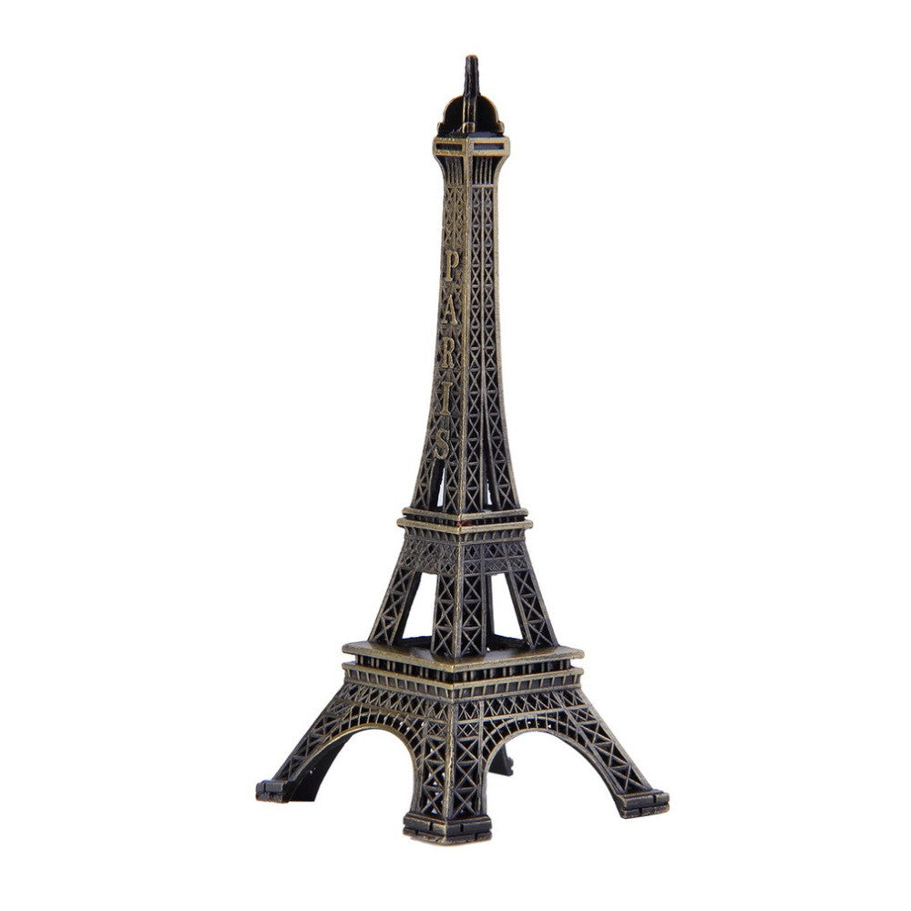 Creative Gifts 10cm Metal Art Crafts Paris Eiffel Tower Model Figurine Zinc Alloy Statue