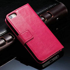 Leather Wallet Flip Case for Apple iPhone 5S 5 SE