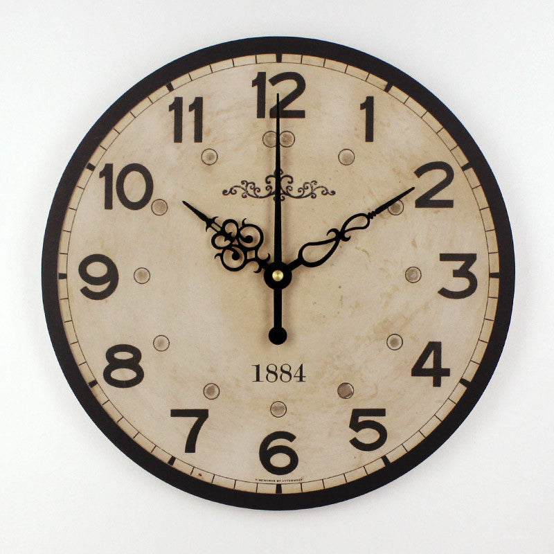 Modern design vintage round wall clock home decor