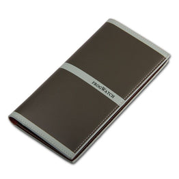 Unisex Top Leather Scratch-Resistant & Waterproof Two Layer Folded Long Wallet