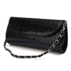 Women Evening Bags Clutch Stone Pattern Handbag Leather Messenger Purse