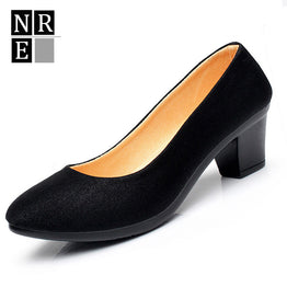 Comfortable professional Heel Round Working Shoes