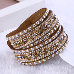 Multilayer Beaded Fashion jewelry Wrap Bracelet for Women