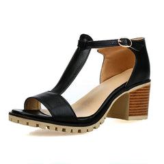 Basics Summer Square Heel Open Toe Sandals