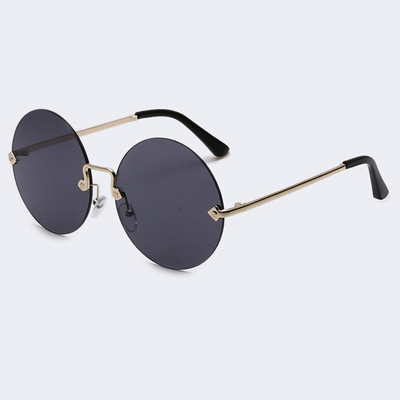 AOFLY Round Rimless Sunglasses Women Vintage Sun Glasses Mirrored Lens UV400