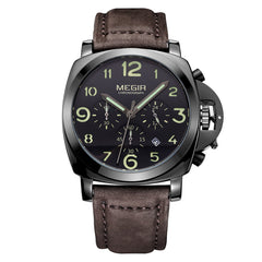 MEGIR Fashion Military Lumimous Quartz Watch for Men