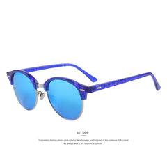 MERRY'S Retro Rivet Polarized Sunglasses Designer Unisex Sunglasses Half Frame