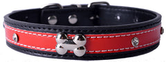 Personalized Crystal Studded Reflective Pu Leather Dog Collar