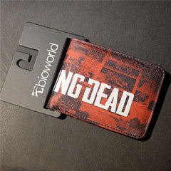 AMC Movie The Walking Dead Short Wallets With Card Holder Photo Holder Men