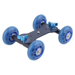 Pulley Drift Car Flexible 4-wheel Rail Rolling Track Slider For DSLR Camera Camcorder