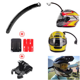 Helmet Extension Arm Kit Self Photo+Curved Adhesive Mount For Gopro Hero