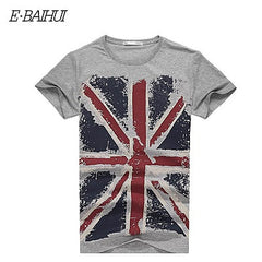 E-BAIHUI summer style Cotton Slim Fit Man T-shirts Casual mens tops tees