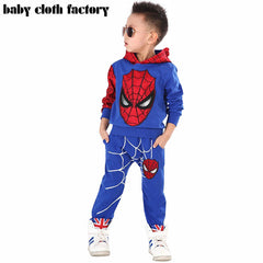Spiderman Marvel Comic Classic Child Costume Sports suit 2 pieces set Tracksuits boys Clothing sets 2-7y