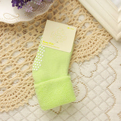 0-3 year old cotton child socks Autumn and winter thick terry infant socks
