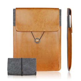 Genuine Leather Vintage Envelope Laptop Sleeve case for macbook Air Pro Retina 11.6 13.3 15.4 15.6 inch