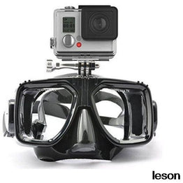 Diving Equipment Camera Mount Silicone  Mask Scuba Snorkel for Go Pro