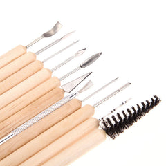 Clay Sculpting Smoothing Wax Carving Pottery Ceramic Tools Shapers Modeling Carved 11pcs set