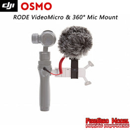 DJI Osmo Parts: RODE VideoMicro & Osmo - Quick Release 360 degree Mic Mount