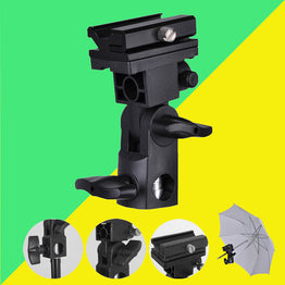 Universal B Type Camera Flash Speedlite Mount Swivel Light Stand Bracket Umbrella Shoe Holder
