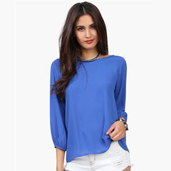 YI-NOKI Sexy Women Blouse Clothing Sleeve Fashion Casual Wild 3/4 Sleeve Blouse Tops
