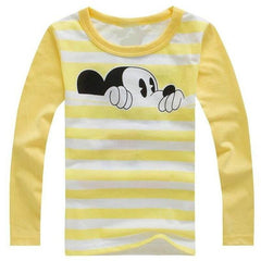 Long Sleeve round neck Mickey pattern T-shirts