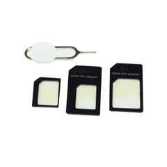 4 in 1 With Nano SIM Card Adapter Convert to Micro Standard Adapter For iPhones