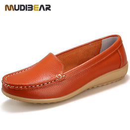 Genuine Leather Slip on Casual Loafers