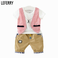 Boys Clothing Vest T shirt + Shorts Set for Summer