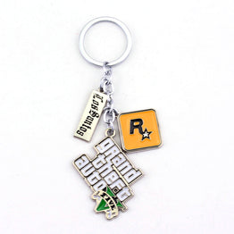 Grand Theft Auto 5 GTA 5 Game Rockstar Key Ring Holder