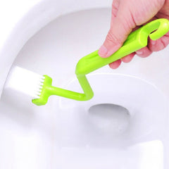 1 piece Portable Toilet Brush Scrubber V-Type Cleaner Clean Brush