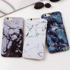 White Black Marble Stone Phone Case For iPhone 7 6 6s 5s SE