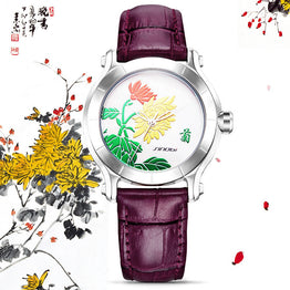 Chinese Women Wrist Watches Leather Quartz Watch