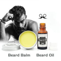 Natural Beard Oil plus beard care wax balm Organic Beard Conditioner