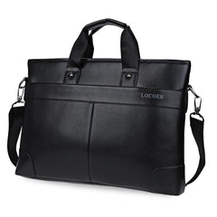Men Black Leather Male Messenger Shoulder Bag Business Laptop Satchel Men's Briefcase