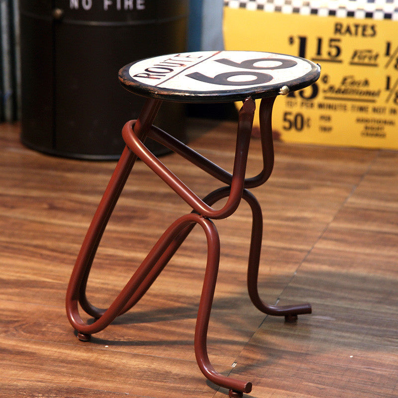 Creative industrial wind bar chair stool American Retro Tin crafts