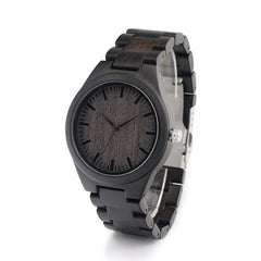 BOBO BIRD Ebony Wood Classic H05 Men's Watch