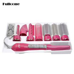 Professional Blow Hair Dryer 8 in 1 for Travel With a Brush/Comb With Attachments