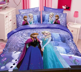Frozen Elsa Anna single Bedding Sets for Girl's in twin size