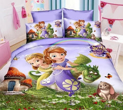 Sofia printed bedding sets for Children Girl's