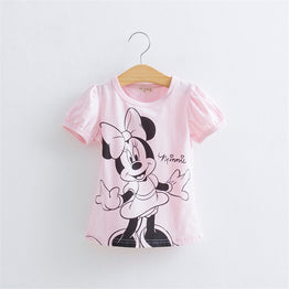 Hello Kitty Minnie Baby Girls Short-Sleeved Casual  T-shirts