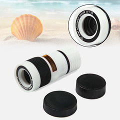 8X Zoom Optical Telescope Camera Lens w/Clip for Mobile PhoneWhite