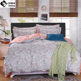 Papa&Mima Fresh Floral Garden Print Soft Polyester 3pcs set in Twin/Double/Queen sizes