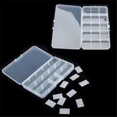 Plastic Jewelry Necklace Transparent Storage Box
