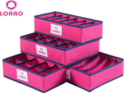 LOAAO 4 in 1 Set Foldable Storage Box