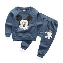 Autumn Spring cartoon tops + pants suit baby boys clothing sets