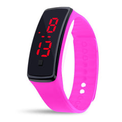 Red led Silicone Men's and Women's Bracelet led watch