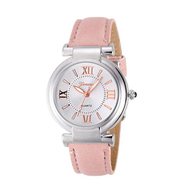 CLAUDIA Fashion Quartz Women Leather Band Wrist Bracelet Watch