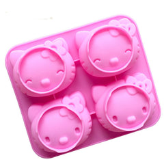 Cartoon KT Cake 4 Holes 2 Expression Cute Cat Mould